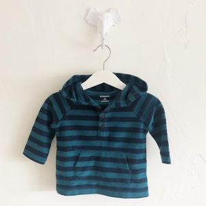 NWT 3-6M Gymboree Hooded LS Shirt